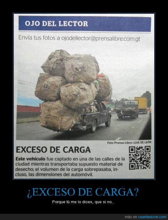 camión,carga,carretera,exceso,Guatemala,peso,Pick-up