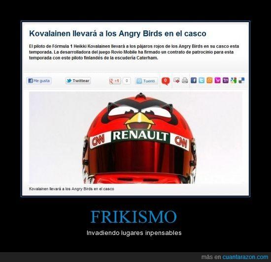 angry birds,formula 1,kovalainen