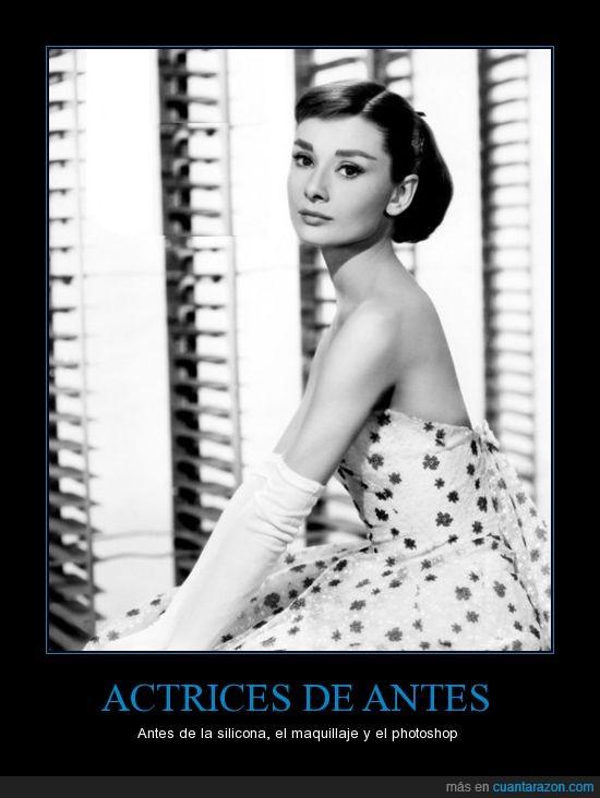 actrices,audrey hepburn,cine,photoshop,silicona