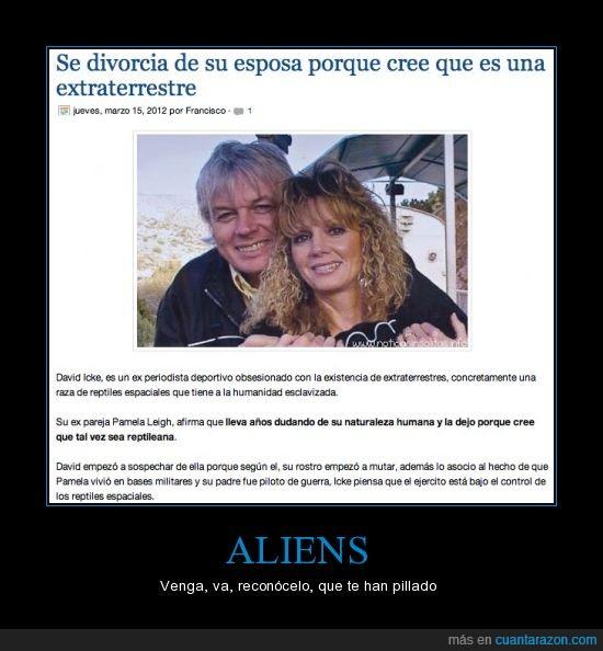 aliens,divorcio,mujer,reptil,wtf