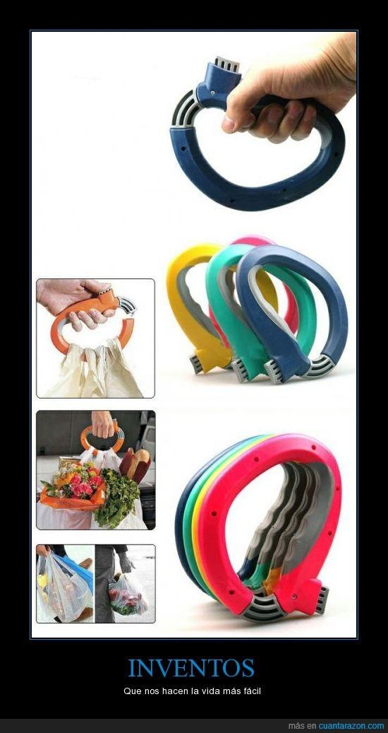 agarre,bolsas,Inventos