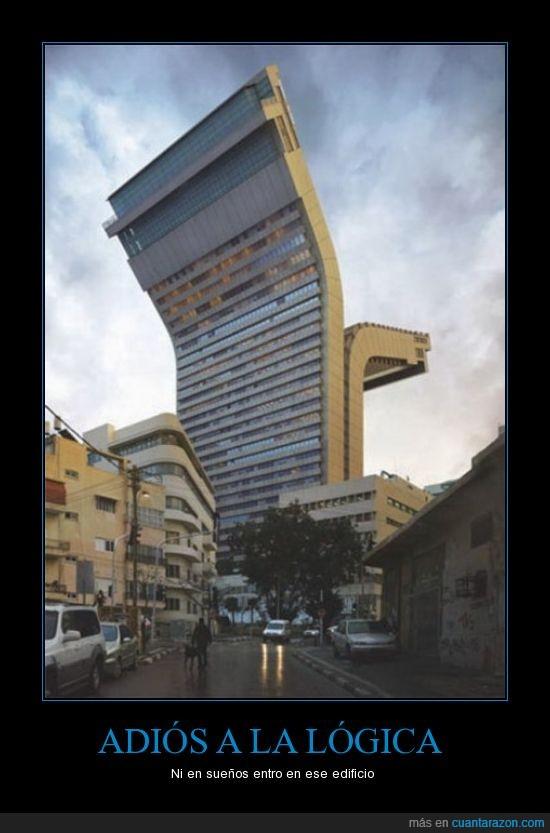 arquitectura,edificio,partido en dos