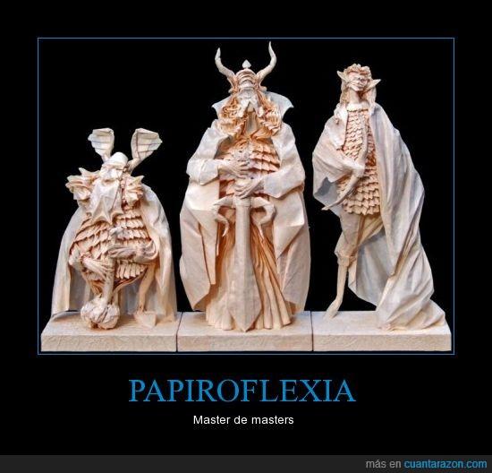 esculturas,figuras,origami,papiroflexia,señor de los anillos