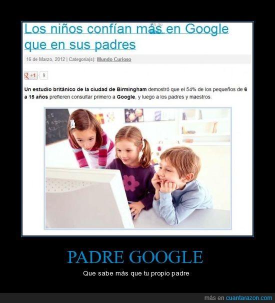 confían,google,niños,padre