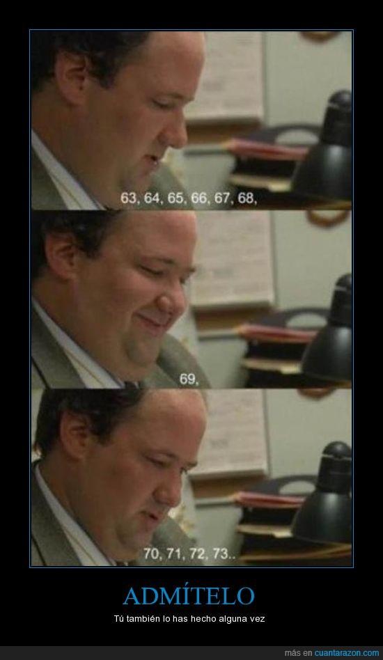 69,contar,kevin,números,risa tonta,the office