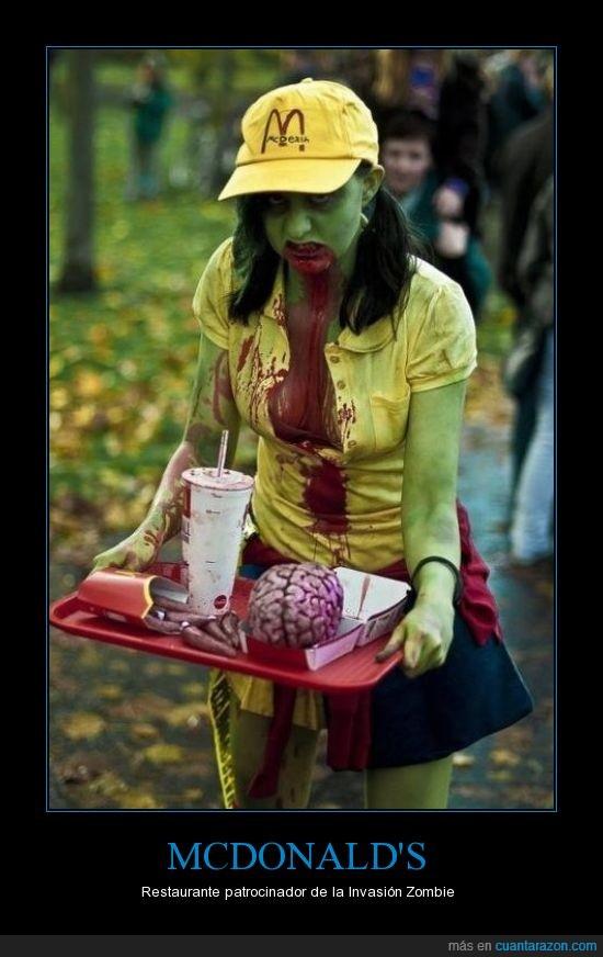 mc'donals,the walking dead,zombie
