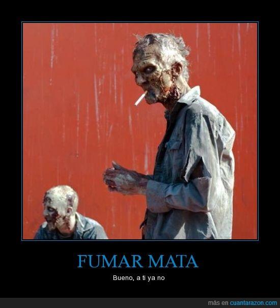 cancer,cigarro,elrubius,fumar,no jodas,piti,walking dead,zombie