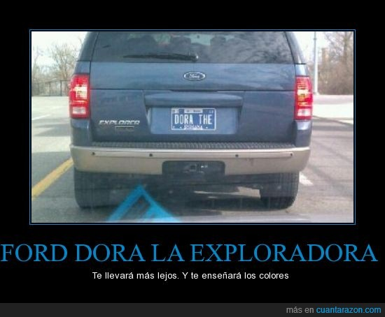 coche,dora,exploradora,explorer,for,matricula,nombre