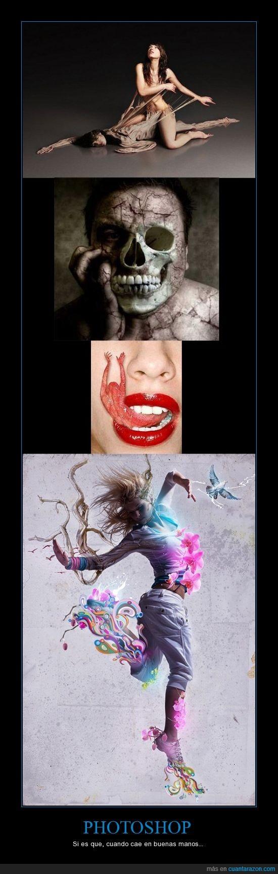 arte,calavera,cambio,chica,esqueleto,lengua,muerto,photoshop,piel,salto