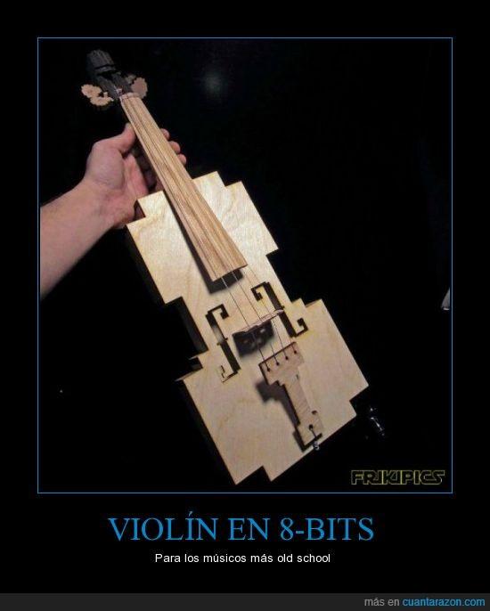 8-bits,frikis,musico,violin