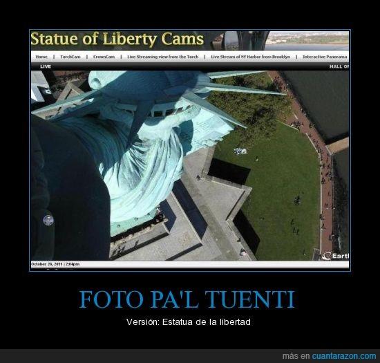 en realidad es emo,estatua de la libertad,facebook,foto en picado,tuenti