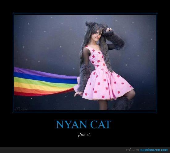 cat,chica,cosplay,disfraz,mejor,nyan,otaku,perfecto,vestido