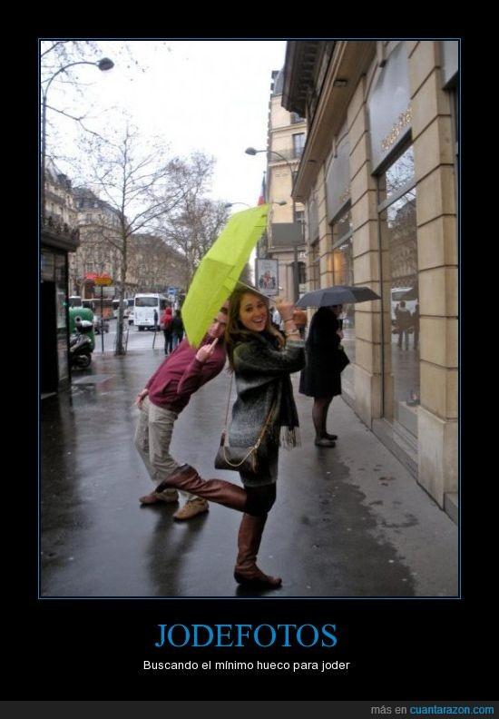 en medio,fotos,joder,paraguas