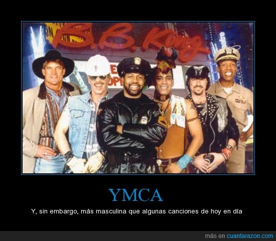cancion,cowboy,indio,masculina,obrero,policia,village people,ymca
