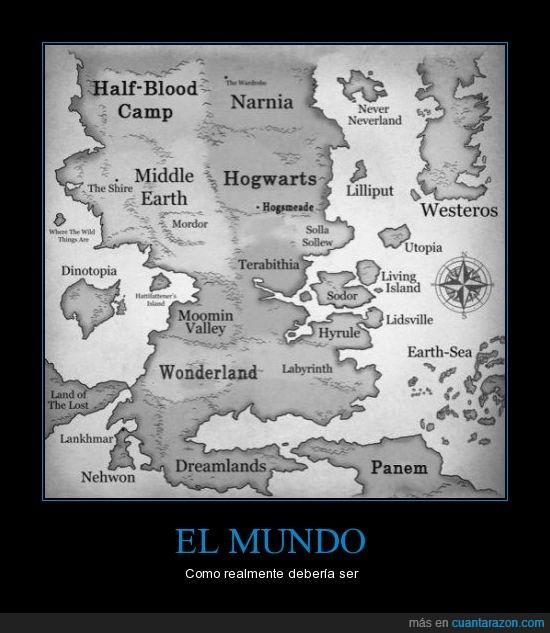 fantasia,hogwarts,hyrule,mundo,narnia,peliculas,westeros