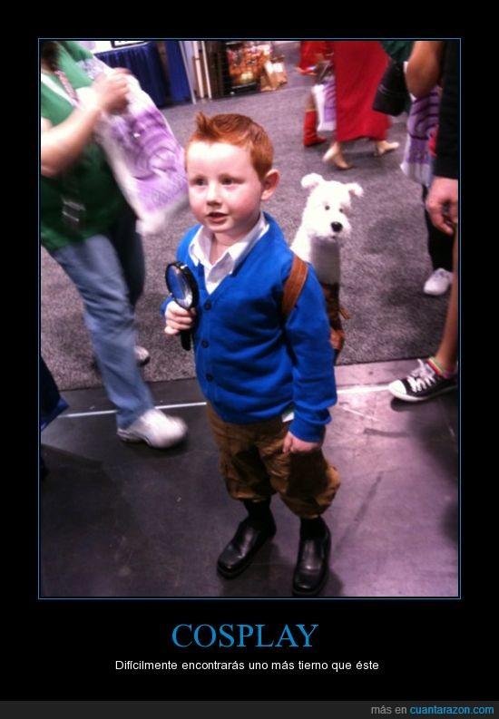 cosplay,disfraz,milú,niño,tintin