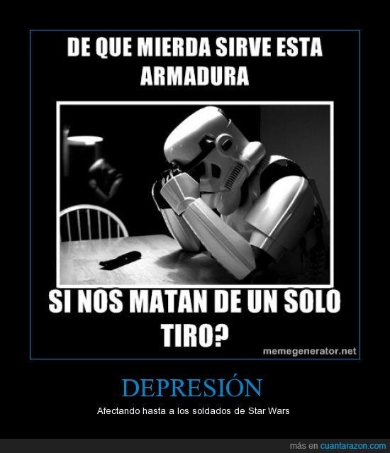 armadura,depresion,galaxias,guerra,molona,proteccion,protege,star wars,stormtrooper,tiro