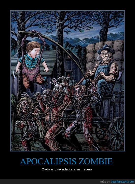 anciano,apocalipsis,carro,niño,zombi,zombie