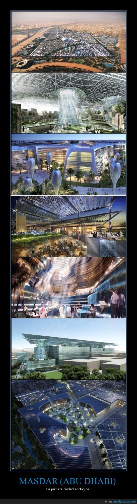 abu dhabi,existirá en 2015,futuro,masdar,primera ciudad ecologica,proyecto