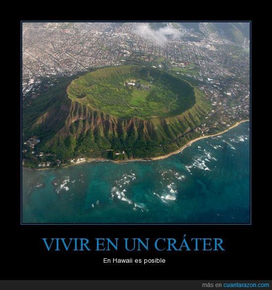 ciudad,cráter,hawaii,isla,naturaleza