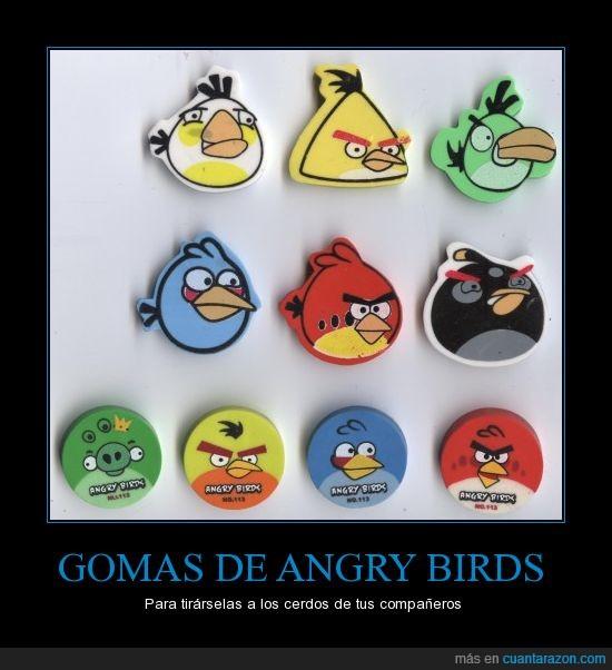 angry birds,cerdos,gomas,tirar