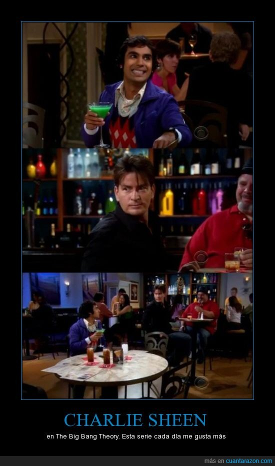 capitulo,Charlie sheen,momento epico,the big bang theory