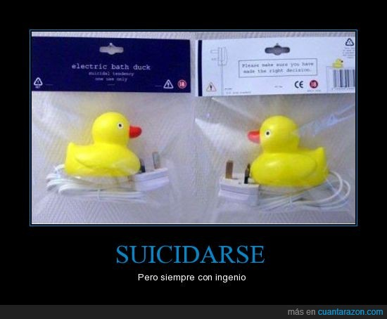 agua,electrico,enchufe,patos,suicida,suicidio,WTF