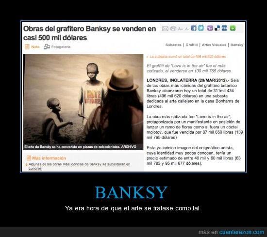 arte,banksy,dolares,graffiti,grafitero,subasta