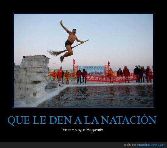 chino,escoba,estella mundial de quidditch,harry potter,hogwarts,nadar,piscina