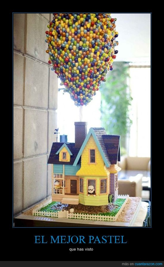 casa,chocolate,figura,globos,pastel,película,up