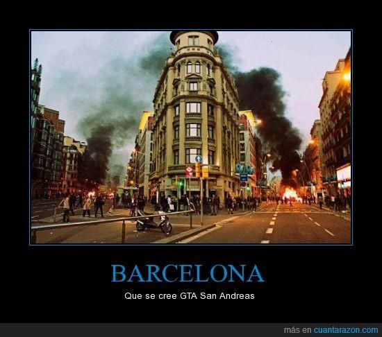 29m,barcelona,disturbios,foto,fuego,videojuego