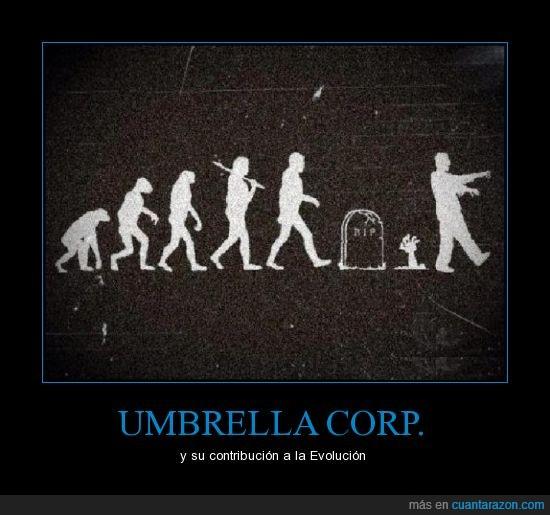 evolucion,hombre,mono,resident evil,umbrella,zombie