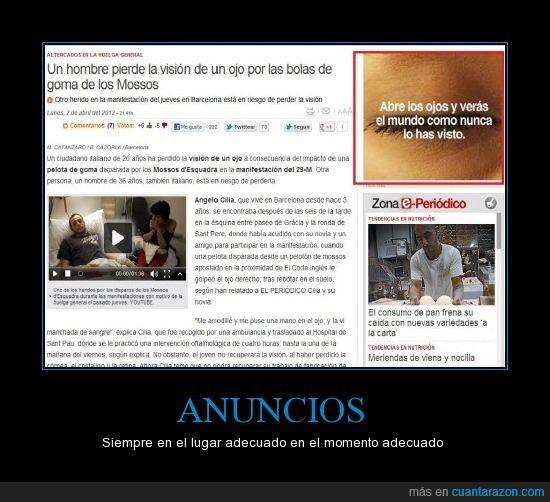 abrir,anuncio,ciego,mossos,noticia,ojos,visión