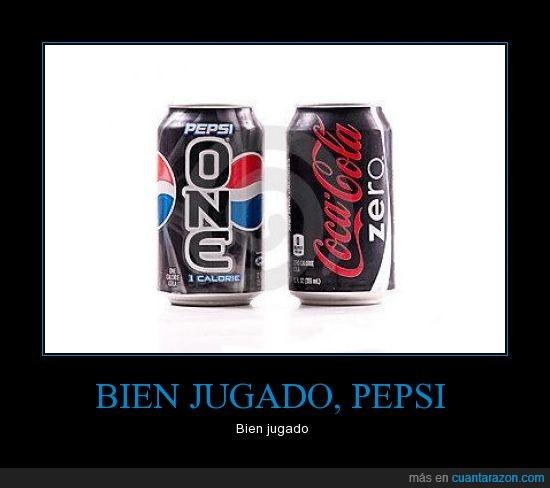 bien,coca cola,he visto lo que has hecho ahí,jugado,one,pepsi,zero