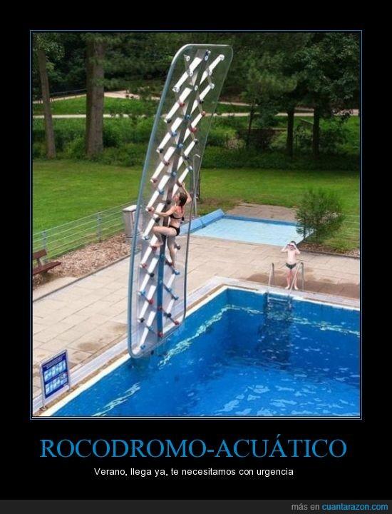 acuatico,agua,escalada,niño,piscina,Rocodromo