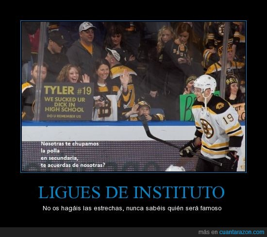 aficionadas,Boston Bruins,chupar,hockey,secundaria,tyler