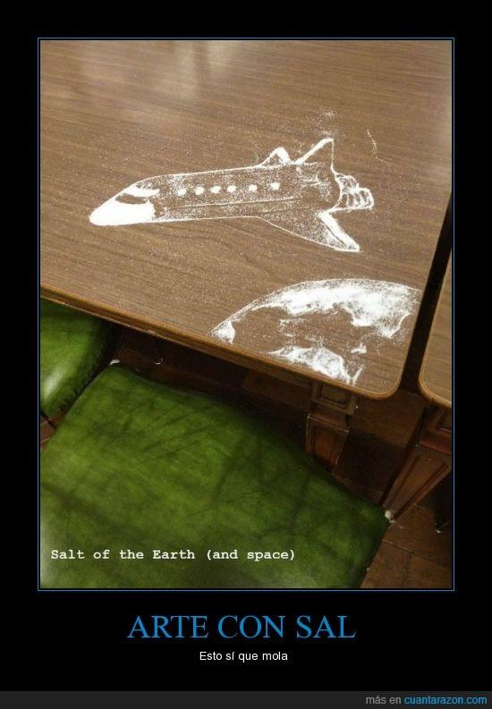 arte,dibujo,nave espacial,sal,tierra