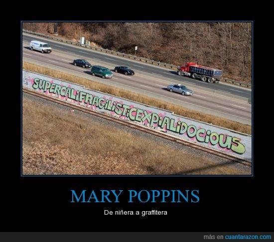 autopista,carretera,coche,graffiti,mery poppins