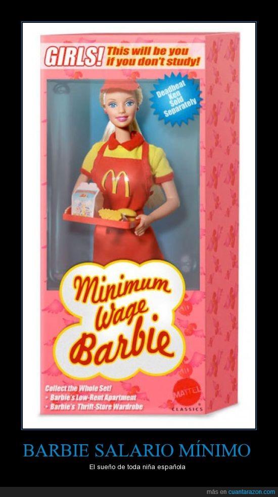 barbie,mcdonalds,mínimo,salario,sueldo