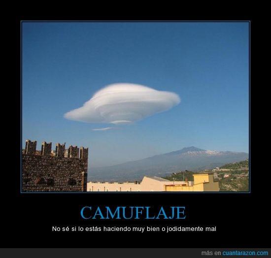 camuflaje,nube,ovni