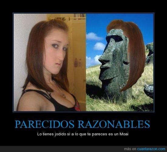 alargada,cara,moai,parecidos