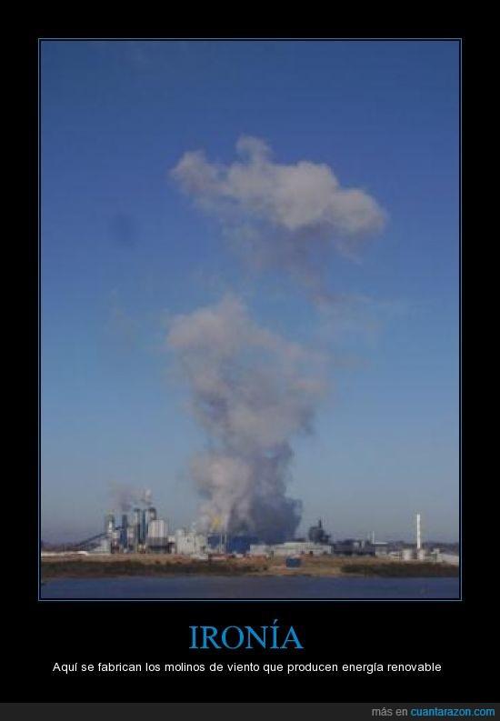 contaminar,fábrica,ironía,molinos