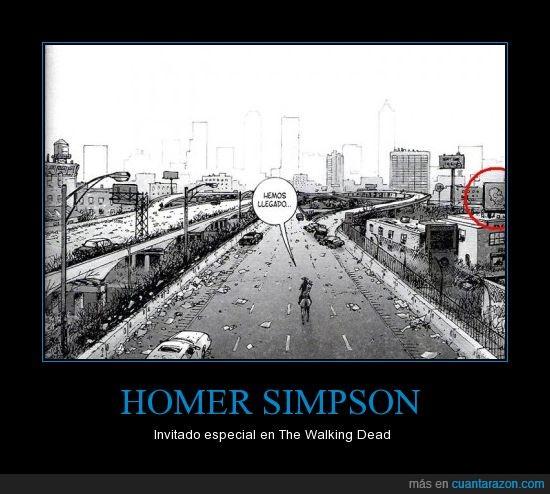 caminantes,Homer Simpson,los Simpsons,The Walking Dead,zombie