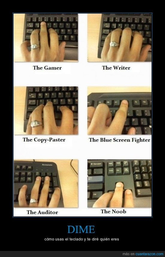 colocacion,dedo,gamer,mano,noob,teclado