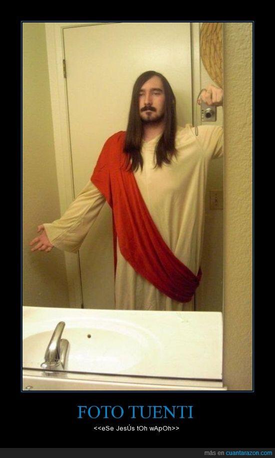 cámara,espejo,foto,jesus,tuenti,túnica