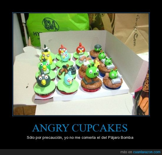 Angry Birds,cerdos,cupcakes,figura,madalena,muffin