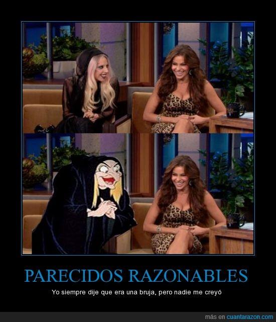 Bruja,Lady Gaga,Parecidos,Razonables,Sofía Vergara