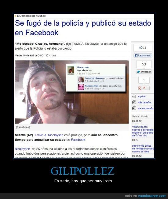 delitos,estado,facebook,hombre,policía