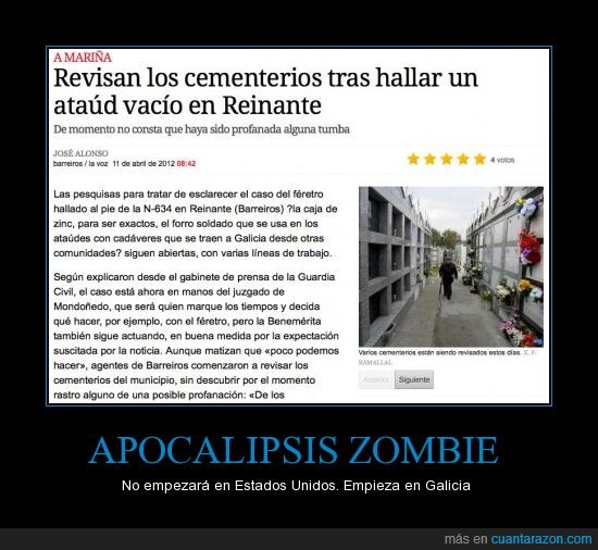 apocalipsis,ataud,barreiros,feretro,galicia,lugo,noticia,reinante,vacio,zombie
