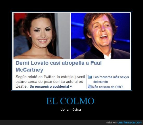 atropellar,beatle,demi lovato,estupida,paul mccartney